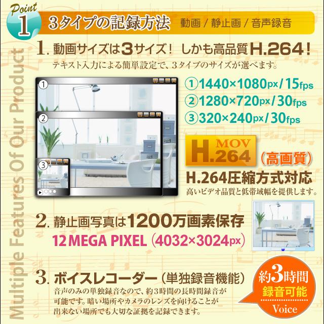 小型カメラ 防犯カメラ 小型ビデオカメラ フック フック型 モニタリング ビデオカメラ (R-222) H.264 動体検知 リモコン付