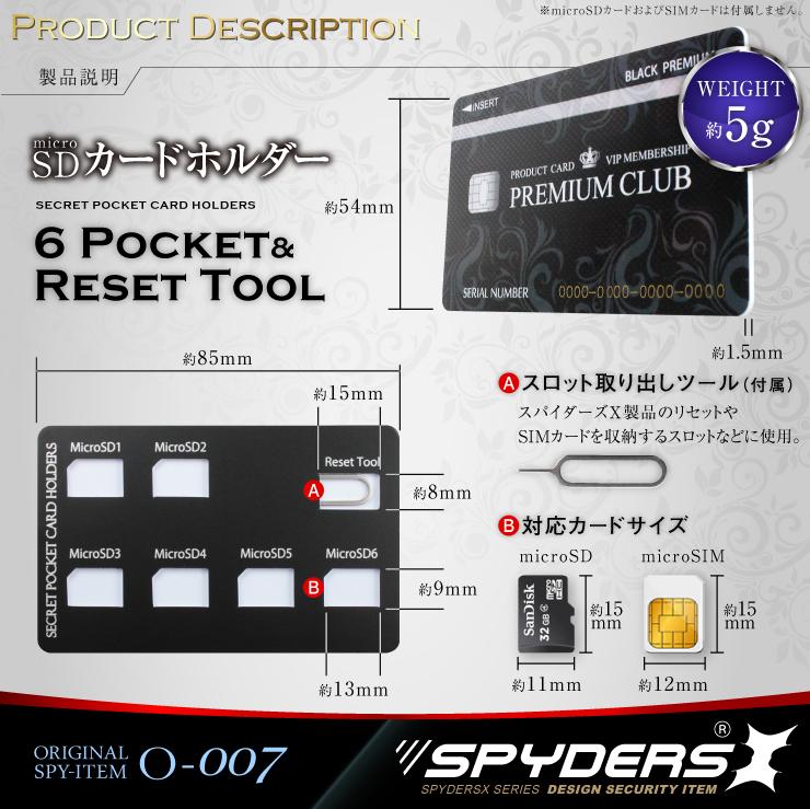 スパイダーズX オリジナルSDカードホルダー
