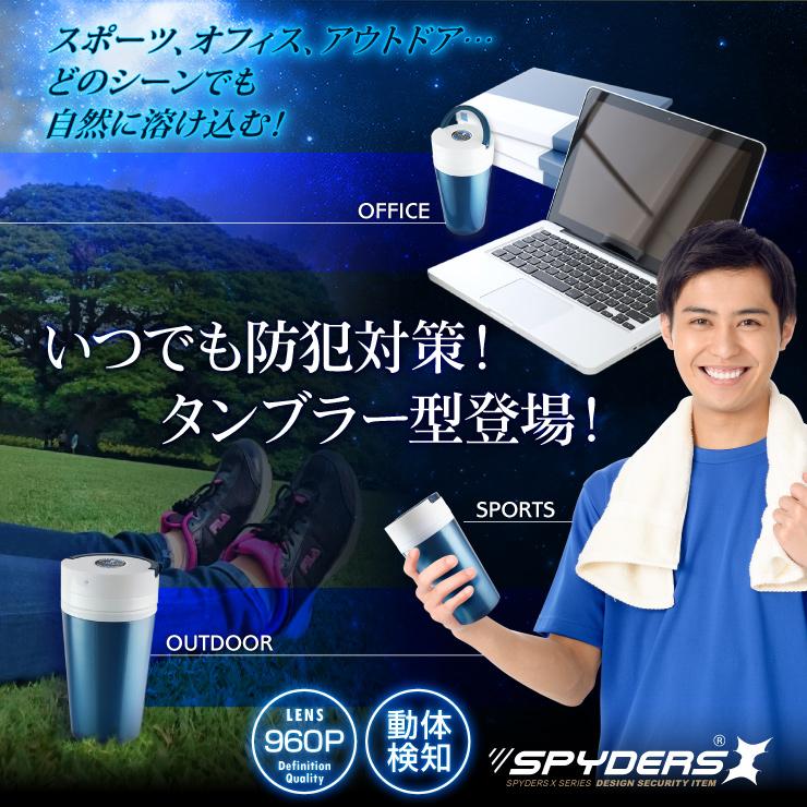 ペットボトル型カメラ プラスチックボトル 小型カメラ スパイダーズX (M-938) スパイカメラ 1080P 動体検知 ユニット式