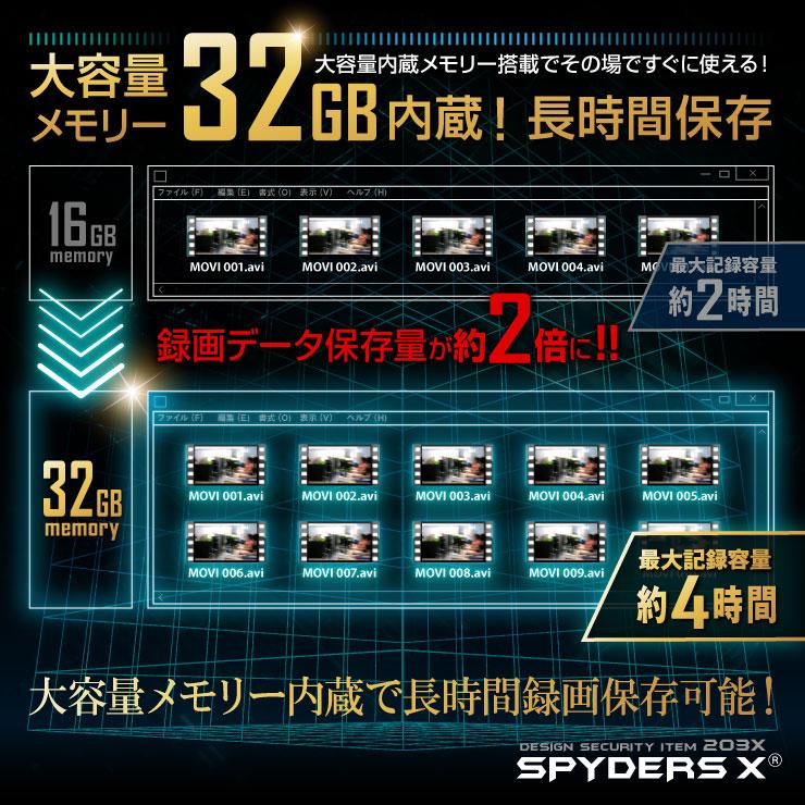 電源タップ型カメラ 小型カメラ スパイダーズX (M-941) スパイカメラ 1080P 簡単操作 32GB内蔵