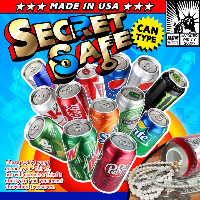 アメリカン雑貨 米国直輸入 貴重品の保管 タンス貯金 へそくり 防犯 スパイグッズ 隠し金庫 飲料缶型 収納 セーフティボックス 『SECRET SAFE シークレットセーフ』(OA-226) Red Bull